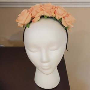 Summer Rose floral headband